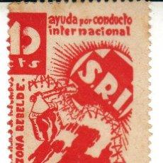 Sellos: GUERRA CIVIL SELLO 10 CTS PRO FAMILIAS CAIDOS ZONA REBELDE AYUDA CONDUCTO INTERNACIONAL SOCORRO ROJO. Lote 29714857