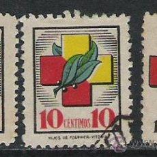 Sellos: 1614-LOTE SELLOS LOCALES GUERRA CIVIL FRENTES Y HOSPITALES AÑO 1938 3 DIFERENTES,VEAN EL COLOR DE . Lote 29743708