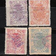 Selos: VALENCIA. IMPUESTOS MUNICIPALES DE 10, 25 Y 50 CTS. Y 2 PTAS.. Lote 29743997