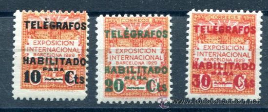 EDIFIL 1/3 DE TELÉGRAFOS DE BARCELONA. NUEVOS SIN FIJASELLOS. (Sellos - España - Guerra Civil - De 1.936 a 1.939 - Nuevos)