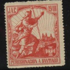 Sellos: S-4139- J.A.C. PEREGRINACION A SANTIAGO 1948 . Lote 29922349