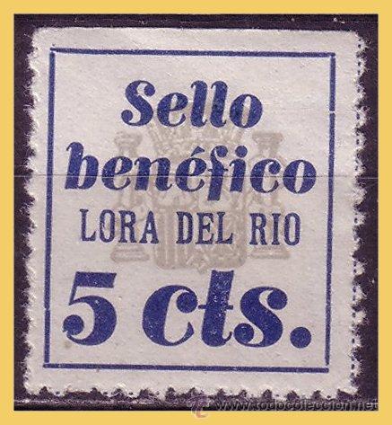 SEVILLA LORA DEL RIO, GUERRA CIVIL, FESOFI Nº 1A * (Sellos - España - Guerra Civil - Locales - Nuevos)