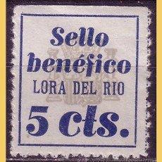 Sellos: SEVILLA LORA DEL RIO, GUERRA CIVIL, FESOFI Nº 1A *. Lote 30027733