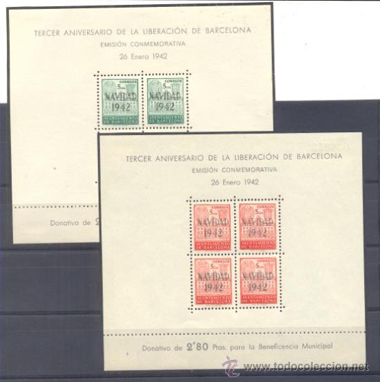 AYUNTAMIENTO DE BARCELONA. EDIFIL 40/41 * (Sellos - España - Guerra Civil - Beneficencia)