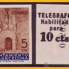Sellos: BARCELONA TELÉGRAFOS 1936