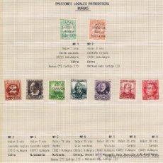 Sellos: BURGOS 1936 VIVA ESPAÑA EDIFIL 1-9 SERIE COMPLETA NUEVOS */** CENTRAJES EXTRAORDINARIOS. Lote 30584291