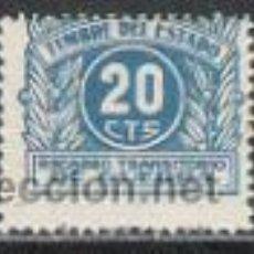Sellos: 0583-SELLO FISCAL RECARGO TRANSITORIO DE GUERRA ** AÑO 1938 Nº3 EDIFIL.20 CENTIMOS. Lote 30843430