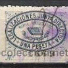 Sellos: 767-SELLO FISCAL COLEGIO NOTARIAL VALENCIA JUNTA DIRECTIVA 1 PESETA.DIFICIL.1900. Lote 31121770