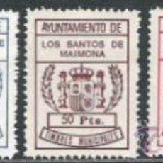 Sellos: 496-SPAIN REVENUE ,ESPAÑA FISCALES LOCALES NUEVOS** TIMBRES MUNICIPALES.AYUNTAMIENTO SANTOS MAIMONA. Lote 31158345