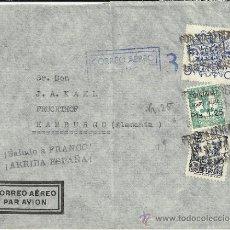 Sellos: CANARIAS CC GUERRA CIVIL SELLO SOBRECARGADO CORREO AEREO SELLO BENEFICO MARCA DE CENSURA DE LAS PAL. Lote 31243044