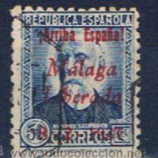 Sellos: ARRIBA ESPAÑA 1937 EDIFIL 21 MALAGA LIBERADA. Lote 31346121