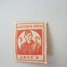 Sellos: ASISTENCIA SOCIAL , JAVEA . 5 CENTIMOS , GUERRA CIVIL. Lote 31385914