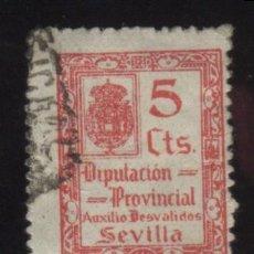 Sellos: S-4735- SEVILLA. DIPUTACION PROVINCIAL. AUXILIO DESVALIDOS . Lote 31389391