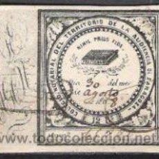 Sellos: 1223A-SELLO FISCAL COLEGIO NOTARIAL ZARAGOZA DATA 186...12 REALES.. Lote 31681652