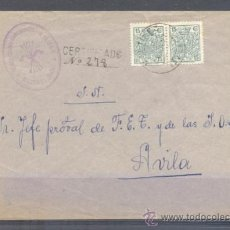 Sellos: 1937.- MARTINEZ (AVILA) A AVILA. Lote 31690401