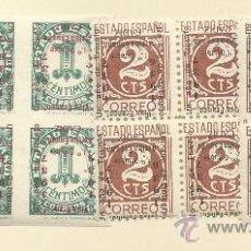 Sellos: CADIZ MAGNIFICOS BLOQUE DE CUATRO DE 1937 SOBRECARGADOS SOBRECARGA INVERTIDA. Lote 31802372