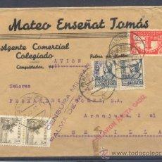 Sellos: 1937.- PALMA DE MALLORCA A SEVILLA. Lote 32091764