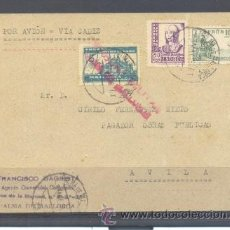 Sellos: 1938.- PALMA DE MALLORCA A AVILA. Lote 32130555