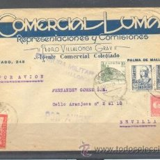Sellos: 1938.- PALMA DE MALLORCA A SEVILLA. Lote 32131025