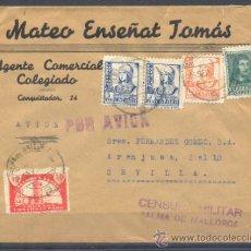 Sellos: 1938.- PALMA DE MALLORCA A SEVILLA. Lote 32215925