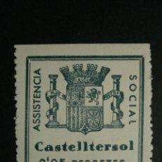 Sellos: CASTELLTERSOL BARCELONA VIÑETA GUERRA CIVIL- COMPARA PRECIOS - - NUEVO RESTOS CHARNELA. Lote 32233640