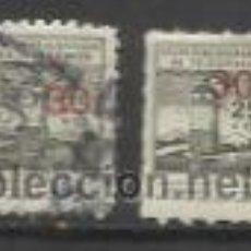 Sellos: 0157-SELLOS FISCALES MUTUALIDAD HUERFANOS CORREOS Y TELEGRAFOS DENTADO ZIG ZAG Y NORMAL,LA DIFERE. Lote 32391309