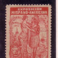 Sellos: VIÑETA SIN VALOR POSTAL, EXPOSICION HISPANO AMERICADA DE SEVILLA 1914 . Lote 32415125