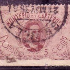 Sellos: VIÑETA DEL MONTEPIO DE CARTEROS DE 5 CTMOS. DR. THEBUSSEM MATASELLADA . Lote 32425279