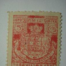Sellos: SELLO VIÑETA PATRIOTICA SEVILLA PRO HERIDOS GUERRA AÑO 1921 - COMPARA PRECIOS. Lote 32425812