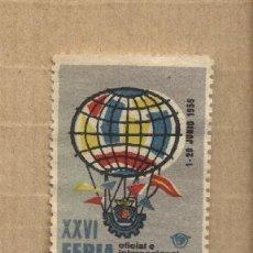 Sellos: VIÑETA XXVI FERIA OFICIAL E INTERNACIONAL DE MUESTRAS BARCELONA. 1958. Lote 32509678