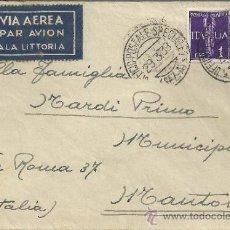 Sellos: GUERRA CIVIL ESPAÑOLA TROPAS ITALIANAS EN ESPAÑA CC CON MAT UFFICIO POSTALE A ITALIA POR CORREO AE. Lote 32875207