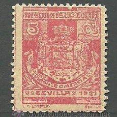 Sellos: 0409 SEVILLA - PRO HERIDOS DE LA GUERRA - UNION COMERCIAL - SEVILLA 1921. Lote 32917944