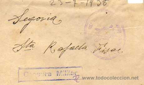 CENSURA MILITAR. REGIMIENTO INFANTERIA BURGOS 31-15. BATALLON. COMPAÑIA DE AMETRALLADORAS. (Sellos - España - Guerra Civil - De 1.936 a 1.939 - Usados)