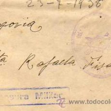 Sellos: CENSURA MILITAR. REGIMIENTO INFANTERIA BURGOS 31-15. BATALLON. COMPAÑIA DE AMETRALLADORAS.. Lote 32997632