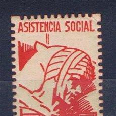 Sellos: DENIA ASISTENCIA SOCIAL 10 CTS NUEVO**. Lote 33042089