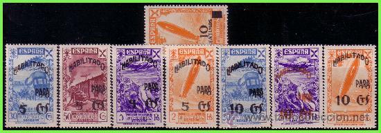 BENEFICENCIA 1940 HISTORIA DEL CORREO HABILITADOS, EDIFIL Nº 45 A 52 * * (Sellos - España - Guerra Civil - Beneficencia)