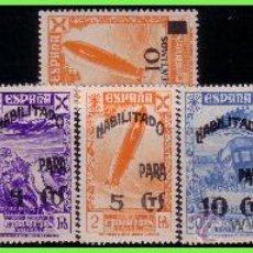 Briefmarken - BENEFICENCIA 1940 Historia del Correo habilitados, EDIFIL nº 45 a 52 * * - 33136064