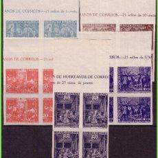 Sellos: BENEFICENCIA 1938 CUADROS DE VELÁZQUEZ, EDIFIL Nº 29S A 33S (*) B4, CABECERA DE PLIEGO. Lote 33137415