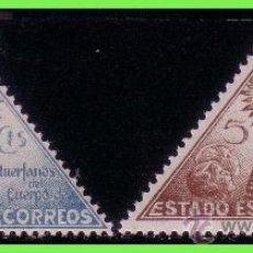 Sellos: BENEFICENCIA 1938 VIRGEN DEL PILAR, EDIFIL Nº 20 Y 21 *. Lote 33138370