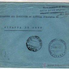 Sellos: INSTITUTO ELEMENTAL DE 2ª ENSEÑANZA. IRUN. CORREOS FRANQUICIA 24 MAY 1937. Lote 33203601