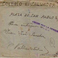 Sellos: VISADO POR LA CENSURA. JACA. HUESCA. REGIMIENTO INFANTERIA. BATALLON. CARTA 21 XI 1937. Lote 33210986