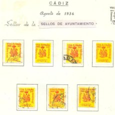Briefmarken - LOTE DE SELLOS.- Cadiz. - 33299119