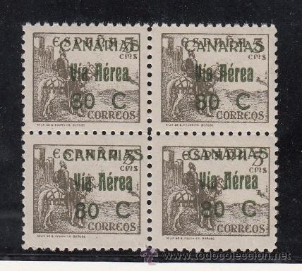 ,,CANARIAS 45 EN B4 SIN CHARNELA, (Sellos - España - Guerra Civil - Beneficencia)