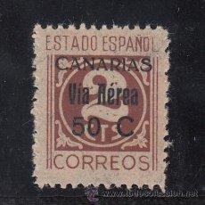 Sellos: ,,CANARIAS 44HA SIN CHARNELA, VARIEDAD SOBRECARGA 13 M/M ALTURA -50 C- MENOS SEPARADO,. Lote 33433767
