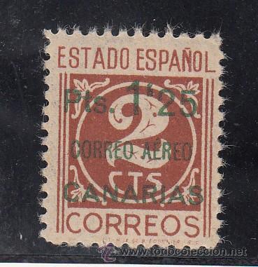 ,,CANARIAS 36 SIN CHARNELA, CON PIE DE IMPRENTA (Sellos - España - Guerra Civil - Beneficencia)