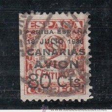 Sellos: ,,CANARIAS 21 USADA, VARIEDAD MARGEN IZQUIERDO SIN DENTAR . Lote 33433987