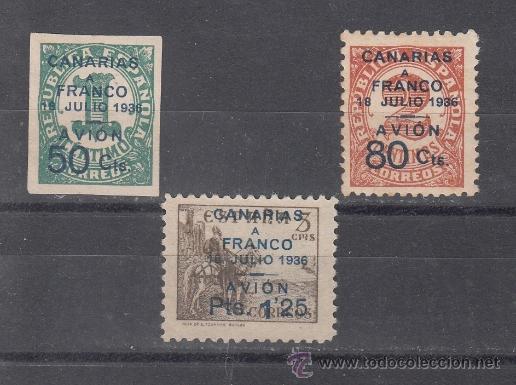 ,,CANARIAS 11/3 SIN GOMA, (Sellos - España - Guerra Civil - Beneficencia)