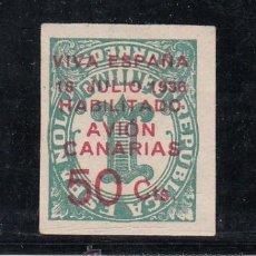 Sellos: ,,CANARIAS 8HI SOBRECARGA INVERTIDA SIN GOMA, . Lote 33434365