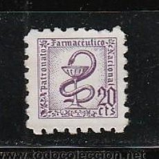 Sellos: PATRONATO FARMACEUTICO NACIONAL. 20 CTS.. Lote 33534011