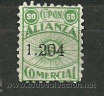 F4-3 ALIANZA COMERCIAL - CUPON DE 50 - VERDE (Sellos - España - Guerra Civil - Viñetas - Nuevos)